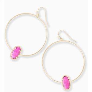 Kendra Scott Elora Gold Hoop Earrings - Magenta
